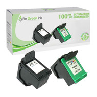 HP 74 & 75 CB335 & CB337 Remanufactured Ink Cartridge Two Pack Savings Pack BGI Eco Series Compatible