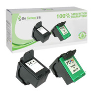 HP 74XL & 75XL CB336 & CB338 Remanufactured Ink Cartridge Two Pack Savings Pack BGI Eco Series Compatible