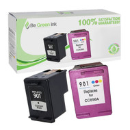 HP 901 (CN069FN) Remanufactured Ink Cartridge Two Pack BGI Eco Series Compatible