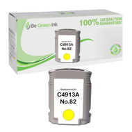 HP C4913AN (HP 82) Remanufactured Yellow Ink Cartridge BGI Eco Series Compatible