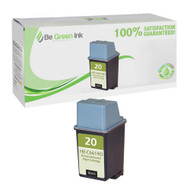 HP C6614D (HP 20) Remanufactured Black Ink Cartridge BGI Eco Series Compatible