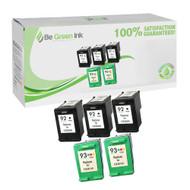 HP C936 Series (HP 92 & 93) Remanufactured Ink Cartridge Five Pack Savings Pack BGI Eco Series Compatible
