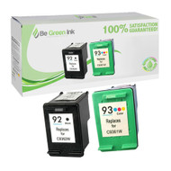 HP C936 Series (HP 92 & 93) Remanufactured Ink Cartridge Two Pack Savings Pack BGI Eco Series Compatible
