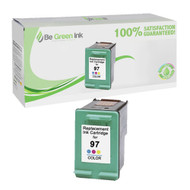 HP C9363W (HP 97) Remanufactured High Capacity Color Ink Cartridge BGI Eco Series Compatible