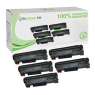 HP CE278A (HP 78A) Set of Five Super Yield 42% extra Black Toner Cartridges Savings Pack ($22.77/ea) BGI Eco Series Compatible