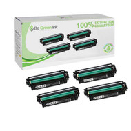 HP 507X, CE400X, CE401A, CE402A, CE403A BCMY 4-pack Toner Cartridge Compatible Saving Pack