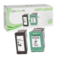 HP C8767W & C9393W (HP 96, 97) Inkjet Cartridge Two Pack Savings Pack BGI Eco Series Compatible