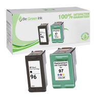 HP C8767W & C9393W (HP 96, 97) Inkjet Cartridge Two Pack Savings Pack BGI Eco Series Compatible