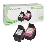 HP CR259FN Remanufactured Ink Cartridge 2-Pack HP 61XL BGI Eco Series Compatible