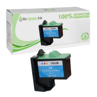 Lexmark 10N0026 (No. 26) Remanufactured Color Ink Cartridge BGI Eco Series Compatible
