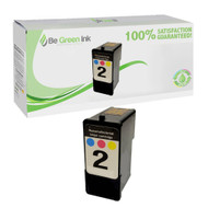 Lexmark 18C0190 (No. 2) Remanufactured Color Ink Cartridge BGI Eco Series Compatible