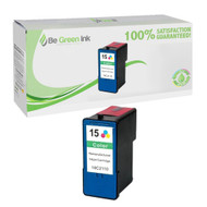 Lexmark 18C2110 (No. 15) Remanufactured Color Ink Cartridge BGI Eco Series Compatible