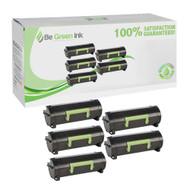 Lexmark 50F1X00 Five Pack Cartridges Savings Pack BGI Eco Series Compatible