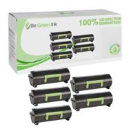 Lexmark 60F1X00 Super Yield Five Pack Cartridges Savings Pack BGI Eco Series Compatible