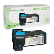 Lexmark C540H2CG Cyan Toner Cartridge BGI Eco Series Compatible