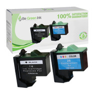 Lexmark No. 16 & 26 Remanufactured Ink Cartridge Two Pack Savings Pack BGI Eco Series Compatible