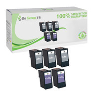 Lexmark No. 43XL & 44XL Remanufactured Ink Cartridge Five Pack Savings Pack BGI Eco Series Compatible