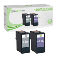 Lexmark No. 43XL & 44XL Remanufactured Ink Cartridge Two Pack Savings Pack BGI Eco Series Compatible