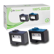 Lexmark No. 82 & 83 Remanufactured Ink Cartridge Tw0 Pack Savings Pack BGI Eco Series Compatible