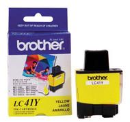 Brother LC41Y Yellow Ink Cartridge Original Genuine OEM