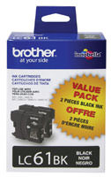 Brother LC612PKS 2 Black Inkjet Cartridge Multipack Original Genuine OEM