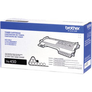 Brother TN-450 Black Laser Toner Cartridge 2,600 Page Yield Original Genuine OEM