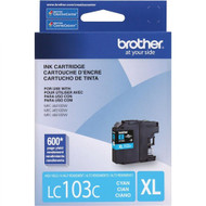 Brother LC103C High Yield Cyan Ink Cartridge Original Genuine OEM