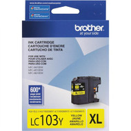 Brother LC103Y High Yield Yellow Ink Cartridge Original Genuine OEM