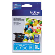 Brother LC75C Cyan Ink Cartridge Original Genuine OEM