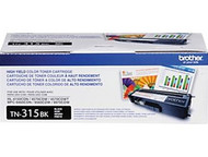 Brother TN-315BK Black Toner Cartridge - 6,000 Page Yield Original Genuine OEM