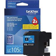 Brother LC105C Super High Yield Cyan Ink Cartridge Original Genuine OEM