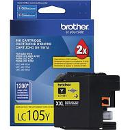 Brother LC105Y Super High Yield Yellow Ink Cartridge Original Genuine OEM