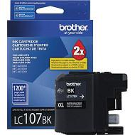 Brother LC107BK Super High Yield Black Ink Cartridge Original Genuine OEM