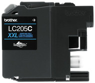 Brother LC205C Super High Yield Cyan Ink Cartridge Original Genuine OEM