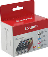 Canon 0620B010 (CLI-8) Black & Color Inkjet Cartridge Multipack Original Genuine OEM