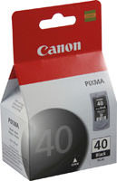 Canon 0615B002 (PG40) High Yield Black Ink Cartridge Original Genuine OEM
