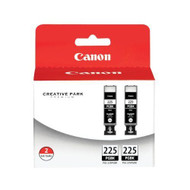 Canon 4530B007 (PGI-225) 2 Black Inkjet Cartridge Multipack Original Genuine OEM
