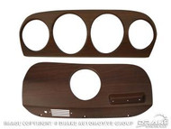 1969 Ford Mustang deluxe walnut dash inserts, set.
