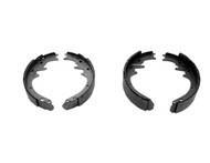 1964-1970 Ford Mustang front brake shoes 170 and 200 c.i., set.  New bonded shoes are sold in sets of four. Fits coupe & fastback models.