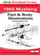 1965 Ford Mustang Part & Body Illustration Manual