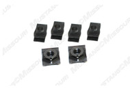 1964-1966 Ford Mustang bumper guard nuts, set of six.