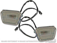 1968 Ford Mustang front side marker lamps, pair.