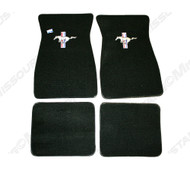 1974-1978 Ford Mustang carpeted floor mats.
