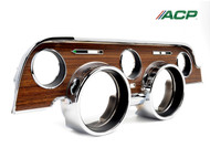 1968 Instrument Bezel Woodgrain with Metal Decal from ACP Products.