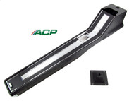 1964-1966 Ford Mustang full floor console assembly for standard transmission without air conditioning.