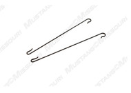 1969-1970 Ford Mustang headliner rod retainer hooks, set of two.