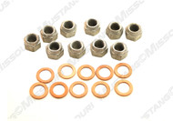 1964-1968 Ford Mustang differential carrier housing nuts and washers.