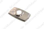 1979-1993 Ford Mustang antenna base cover, polished stainless steel.