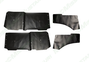 1974-1978 Ford Mustang water shield set for door and quarter area.