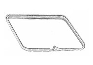 1979-1993 Ford Mustang sunroof weatherstrip on the body.